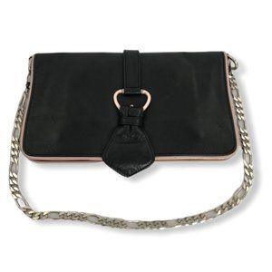 D&G Dolce & Gabbana Leather Convertible Chain Bag